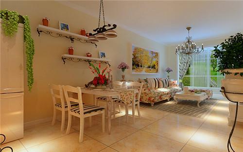 豪华装修的单身公寓 62㎡欧式二居装修效果