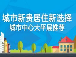 城市新贵居住新选择  城市中心大平层推荐