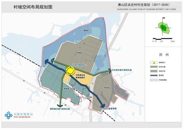 一、规划简介   1、规划范围   以古庄社区(行政村)行政管辖范围为本次村庄规划的规划范围,总规划面积1.62平方公里。   2、规划依据   (1) 《中华人民共和国城乡规划法》   (2) 《江苏省村庄规划导则》(2008)   (3) 《无锡市村庄规划编制导则(试行)》(2017)   (4) 《江苏省节约型村庄和特色村庄建设指南》(2010)   (5) 《关于加强和改进农村住房建设管理的意见(试行)》   (6) 《江苏省村庄规划建设示范指导标准》(2013)   (7) 《无锡市惠山区