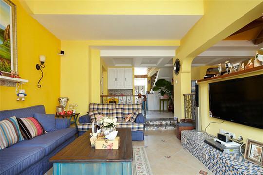 216平米地中海风别墅装修 色彩搭配造浪漫温暖住宅