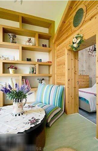 百平米两居室田园风格装修效果图 创意混搭美丽家