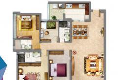 4房2厅带套房