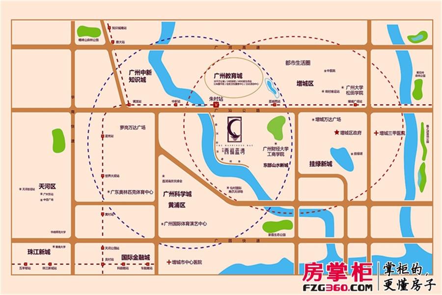 西福蓝湾交通图