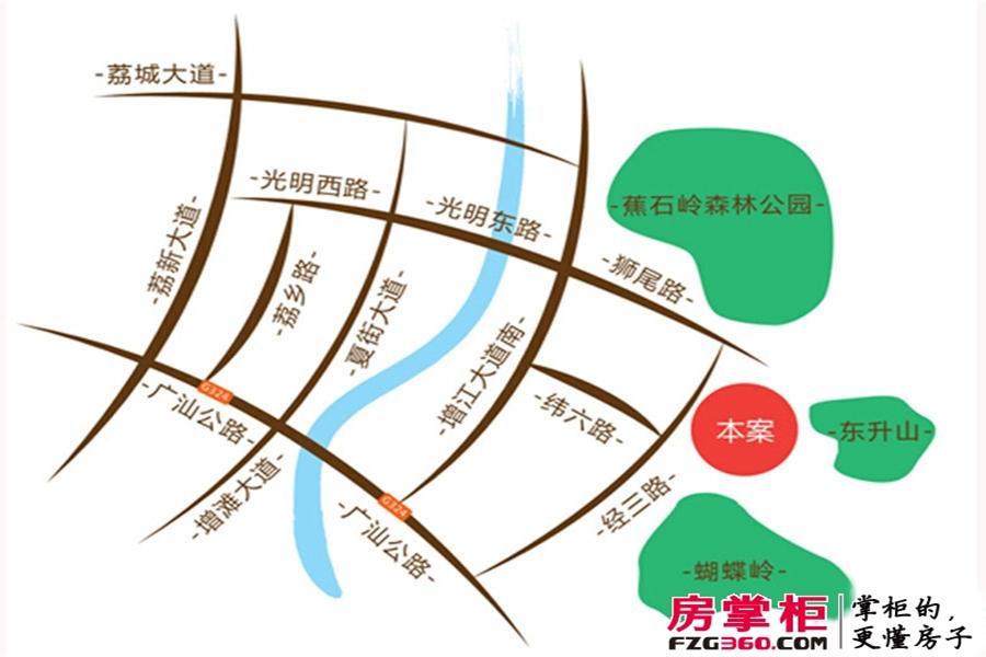 森林中央交通图