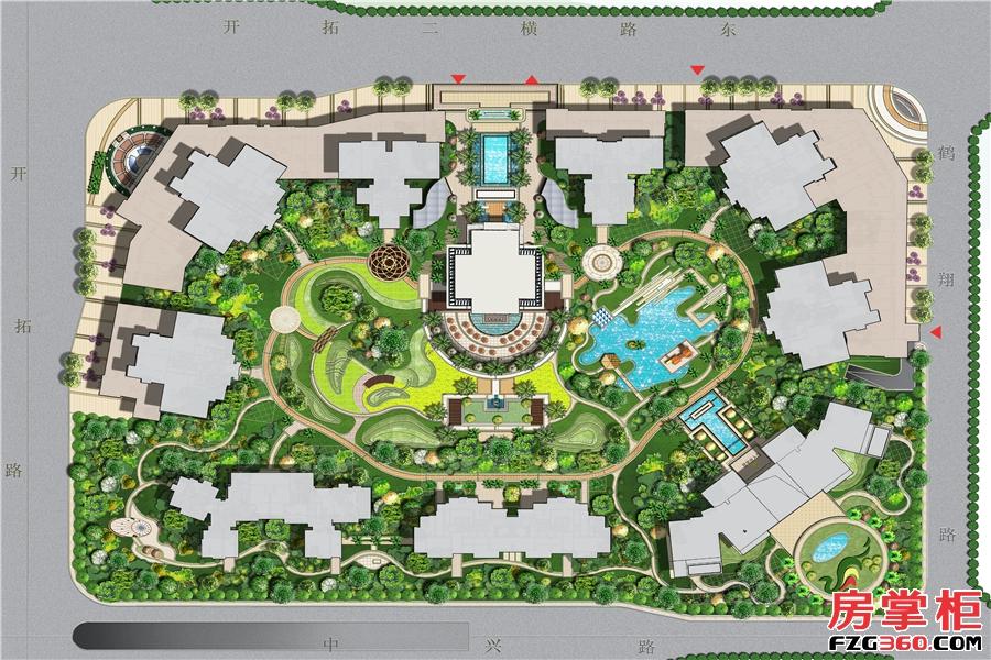 珠江金茂府规划图