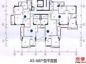 A5-A8户型平面图