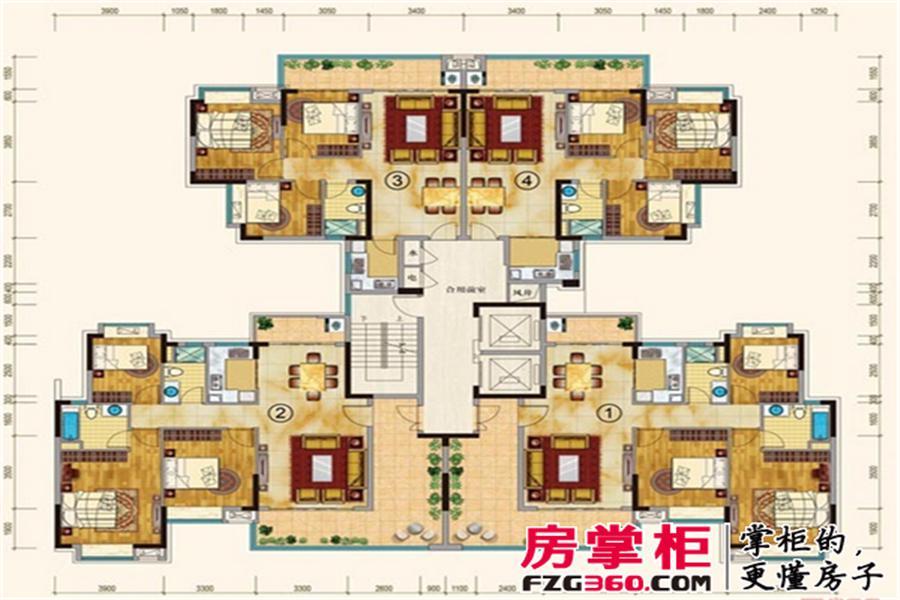 19号楼01单元平层图