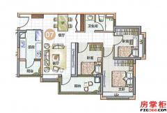 07单位90.59�O3房2厅1卫