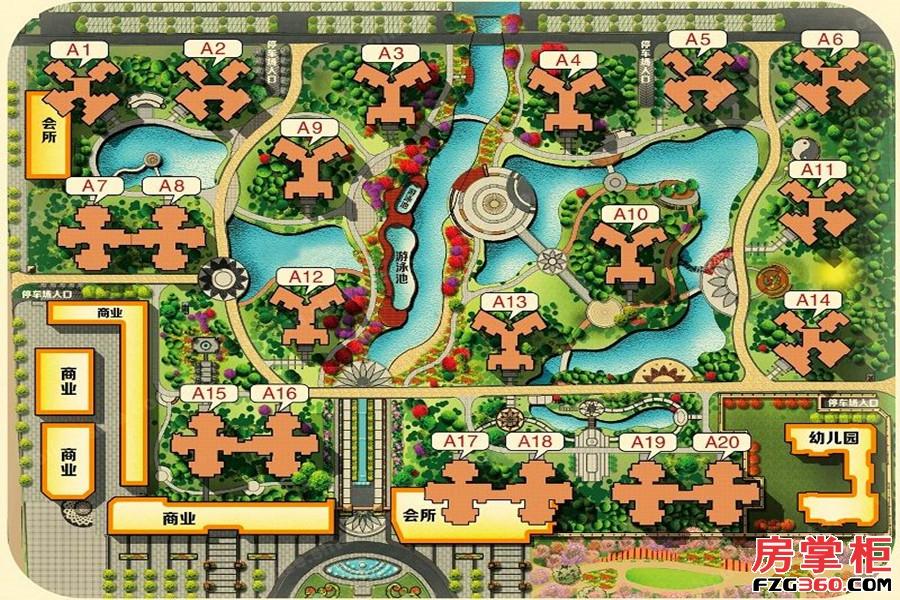 广铝荔富湖畔规划图