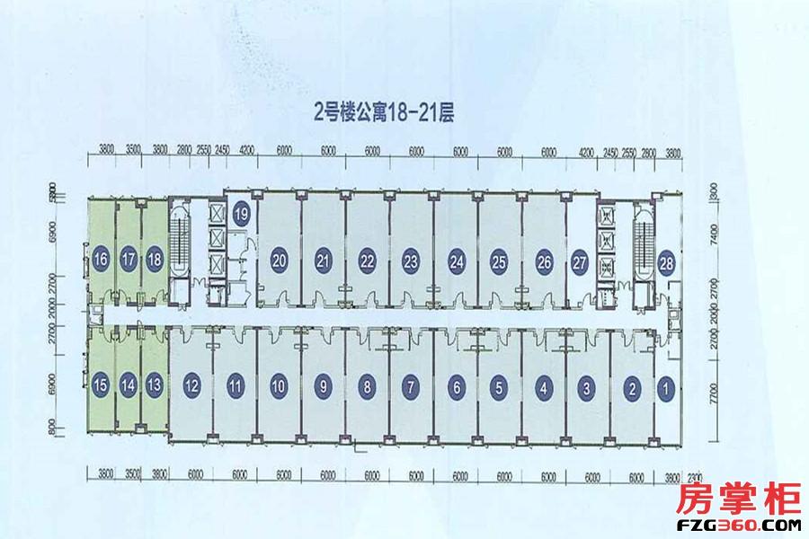 2号楼公寓18-21层