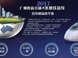 2017广州将新开4条地铁线