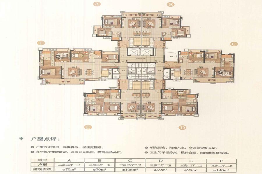 D6栋户型平面图