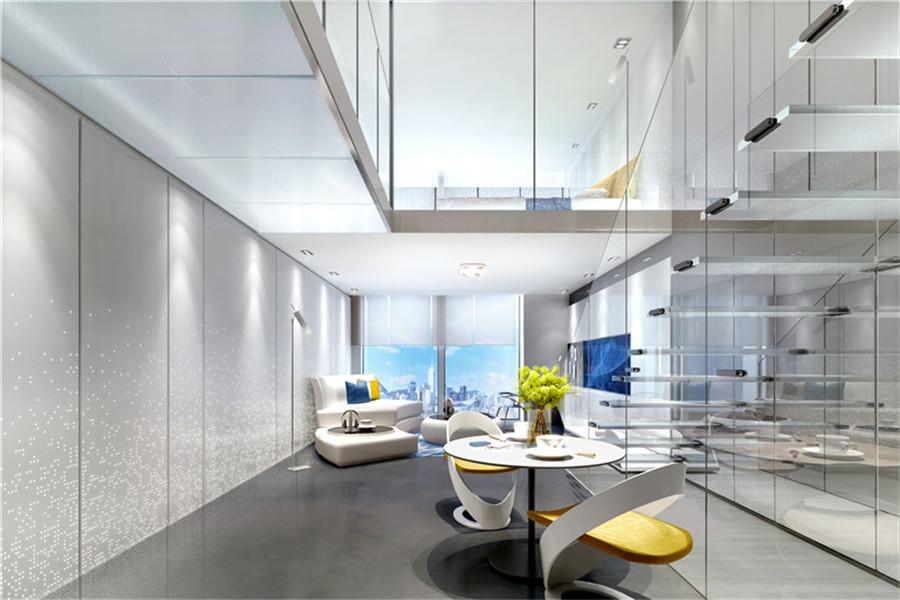 公寓项目B户型苹果现代风格餐厅