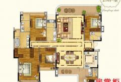 270平米五房户型