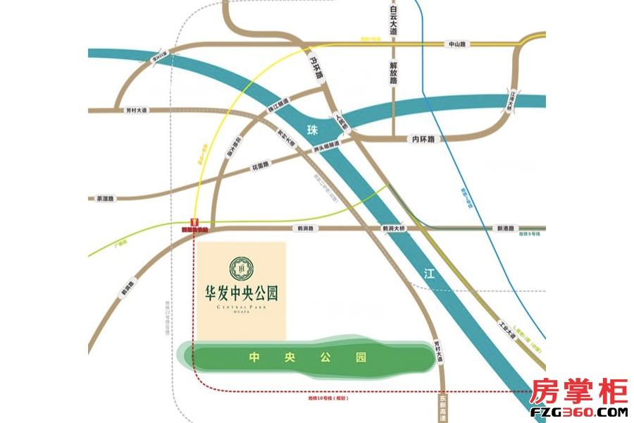 华发中央公园交通图