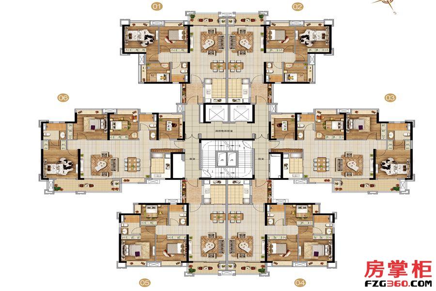 D3栋户型平面图