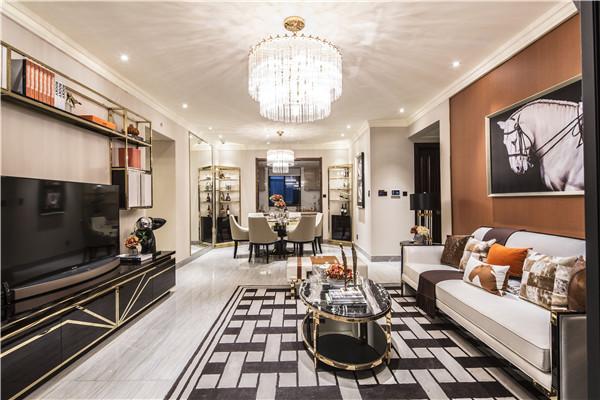 纯板式方正户型设计,打造大开间双厅,努力将客厅及餐厅的进深与开间比