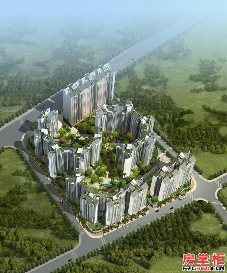奥园合创新城鸟瞰效果图