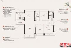 T3建面约125平三房两厅两卫