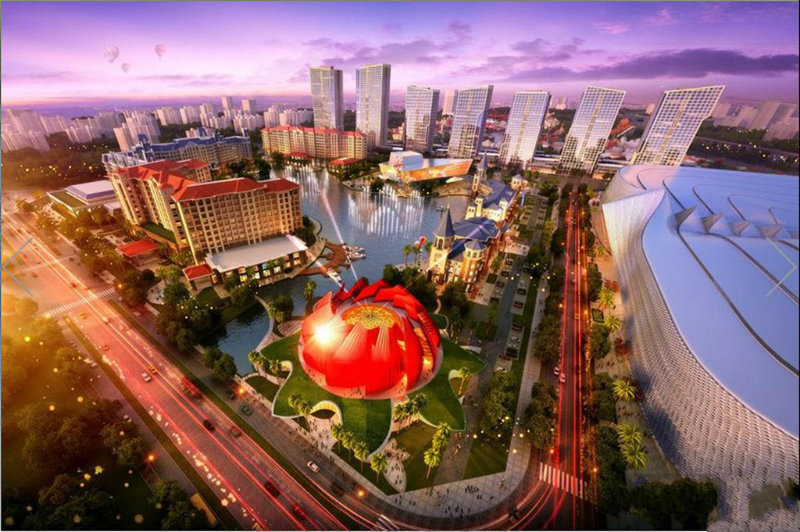 作为融创与万达两大强势品牌在广州联袂打造的城市新地标――融创广州万达城,不仅拥有八大丰富的业态,其践行的美好生活理念也正在一步步成为现实。相信未来,随着八大业态的成熟,融创万达城给业主带来的美好生活体验将会享誉全球。图为融创广州万达城。图为广州万达城效果图。