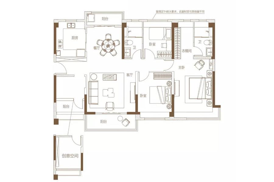 建面约140平珑璟洋房