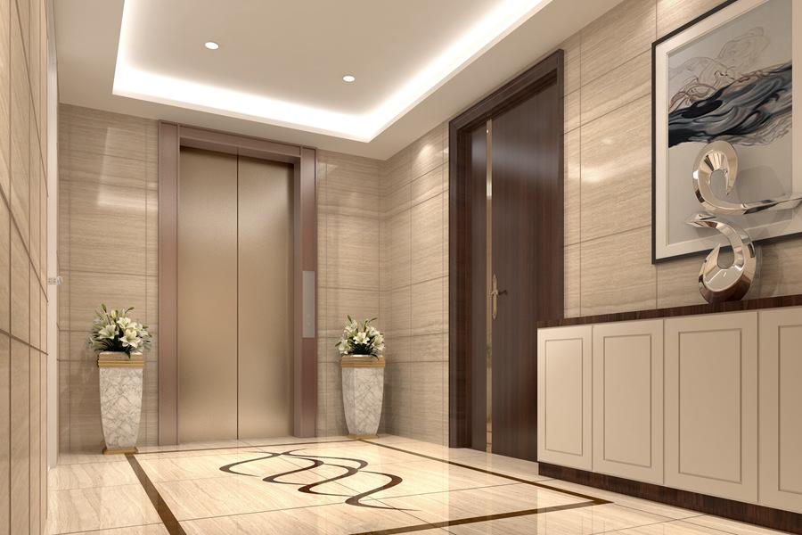 电梯间效果图