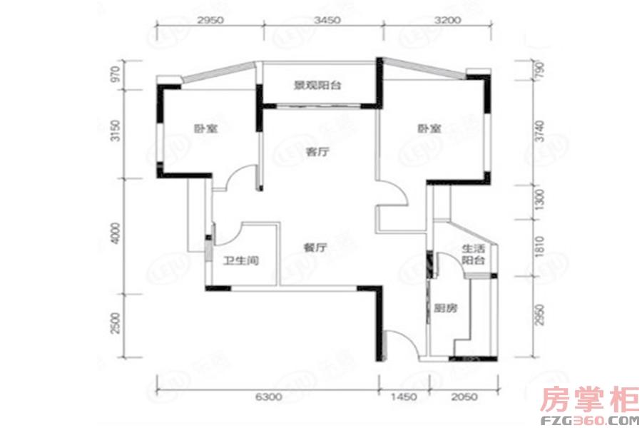 两居户型图