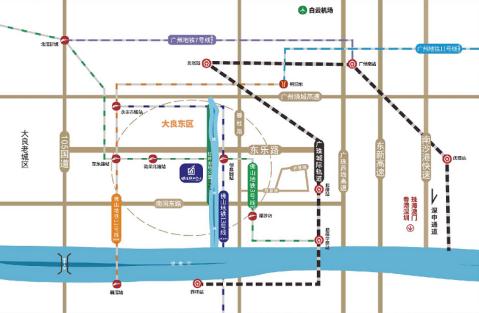 顺德绿地中心交通图