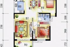 碧桂园十里银滩海景房2号楼B1户型