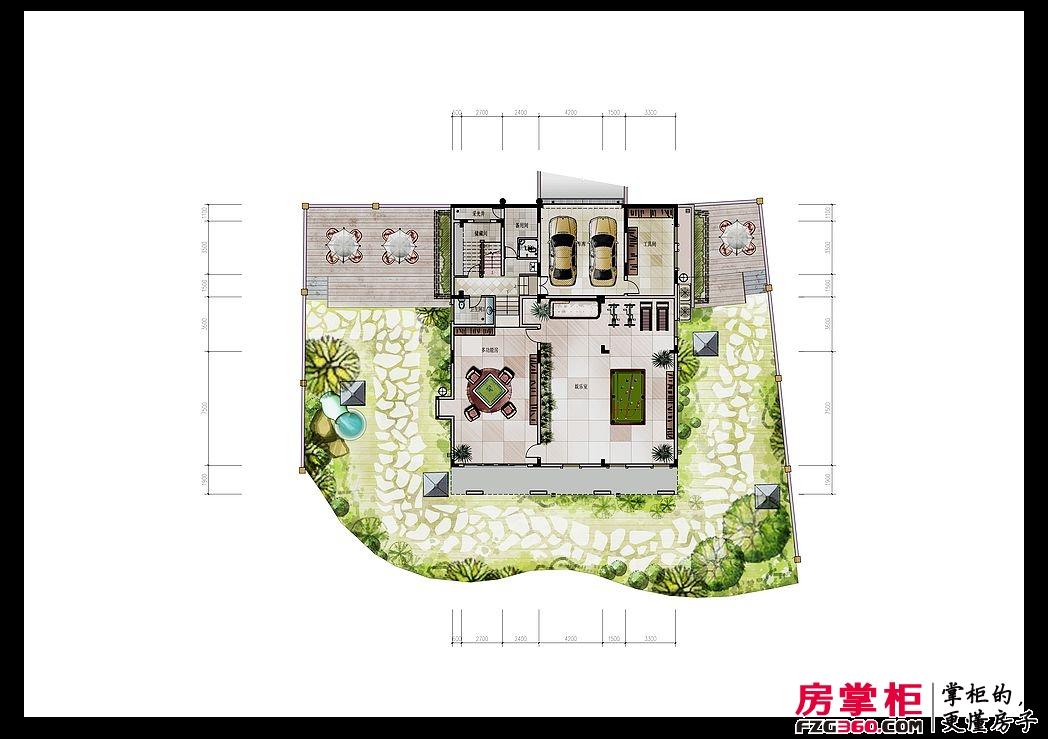 东江新城四期别墅独栋地下室户型图