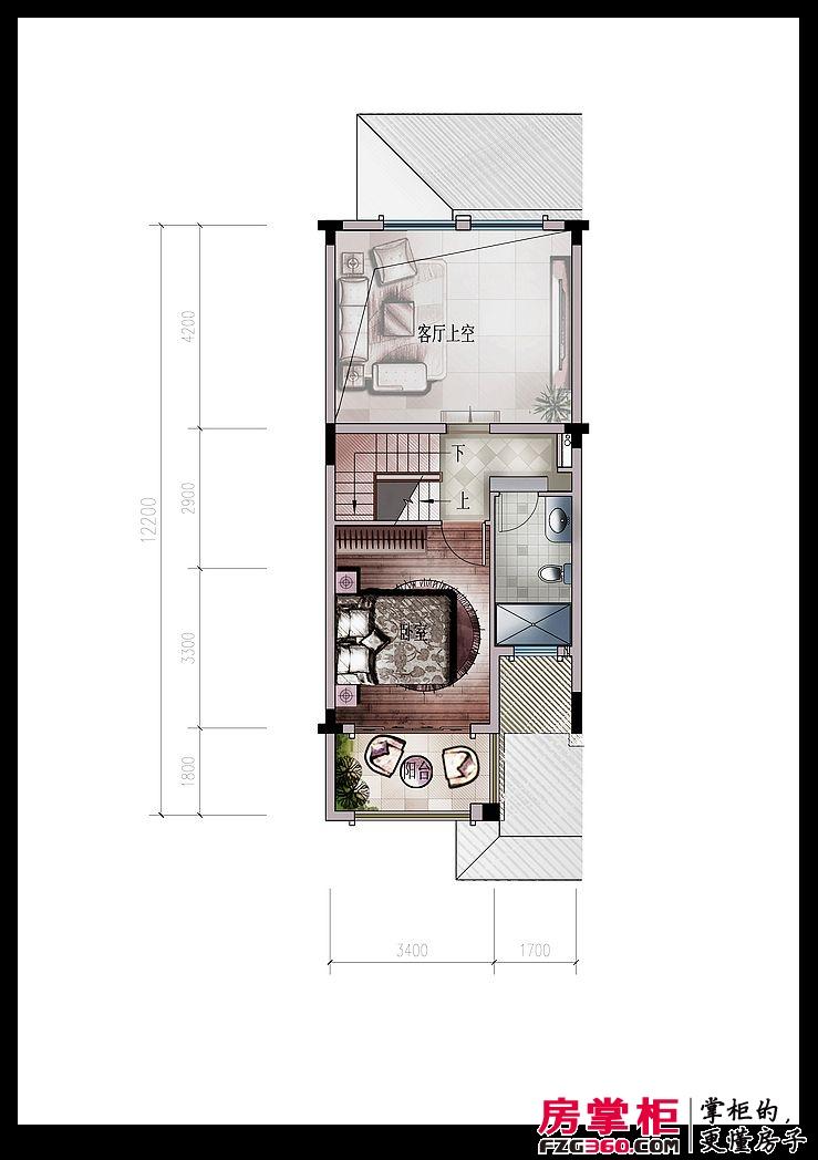 东江新城四期别墅七连排A2二层户型图