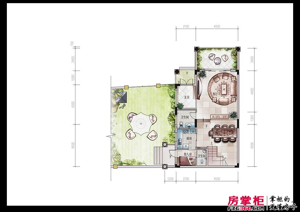 东江新城四期别墅四孖屋首层户型图