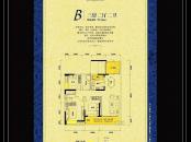东江新城三期凯撒帝景B户型图