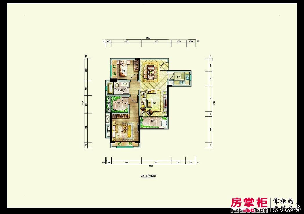 深业喜悦城80㎡(2A-D)户型图