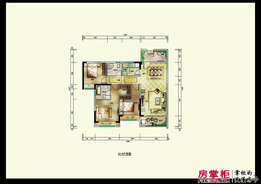 深业喜悦城115㎡(2A-B)户型图