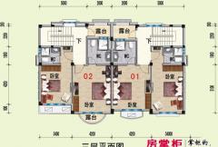 山河城G25栋三层平面图