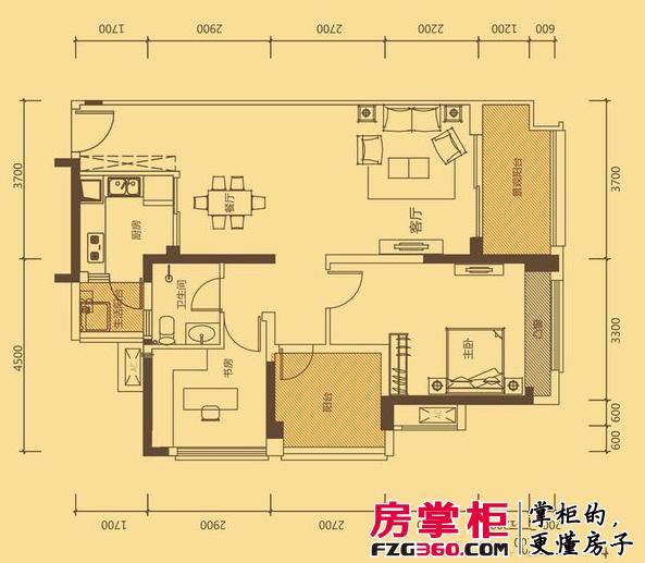 中海凯旋城六期D2-D7、D12、D19栋F1户型