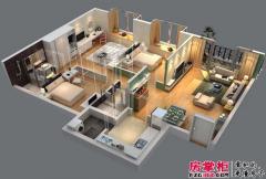惠阳碧桂园山河城洋房J36-04户型3D图