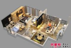 惠阳碧桂园山河城洋房Q9S-04户型3D图