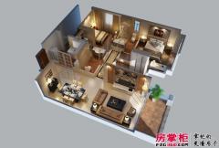 惠阳碧桂园山河城洋房J36-02户型3D图