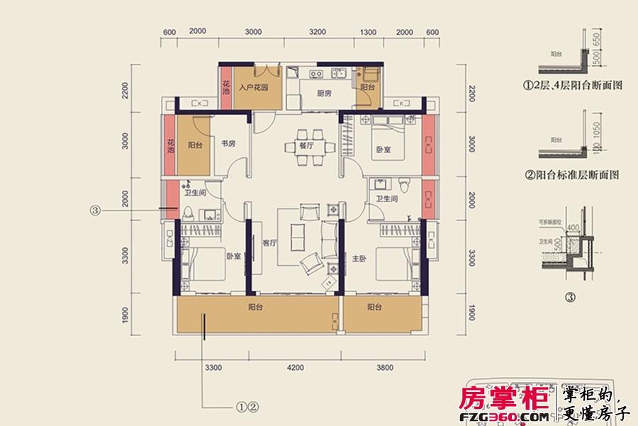 中洲天御2期新品D2户型-140平4+1户型
