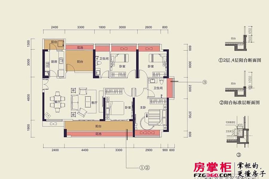 中洲天御2期新品D1户型-142平4+1户型