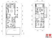 千花岛-边墅-195平-负一层-负二层平面图