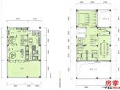 千花岛-边墅-195平-1-2层平面图