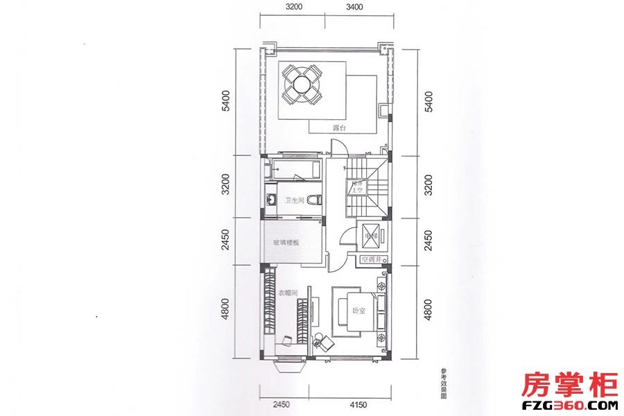 千花岛-中墅-165平-3层平面图