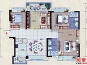 碧桂园太东公园上城-C户型-3室2厅1厨2卫