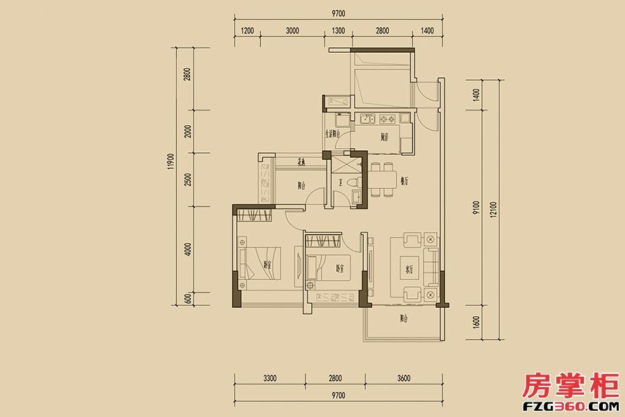 1栋馨睿02户型-4房2厅1厕