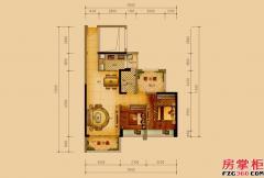 智赋02户型-88平米-2房2厅1卫