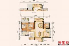 天颂G区140平米户型-3房2厅2卫