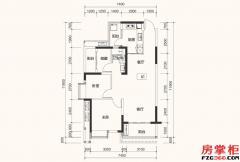 A1户型-90平米-2+1房2厅1卫